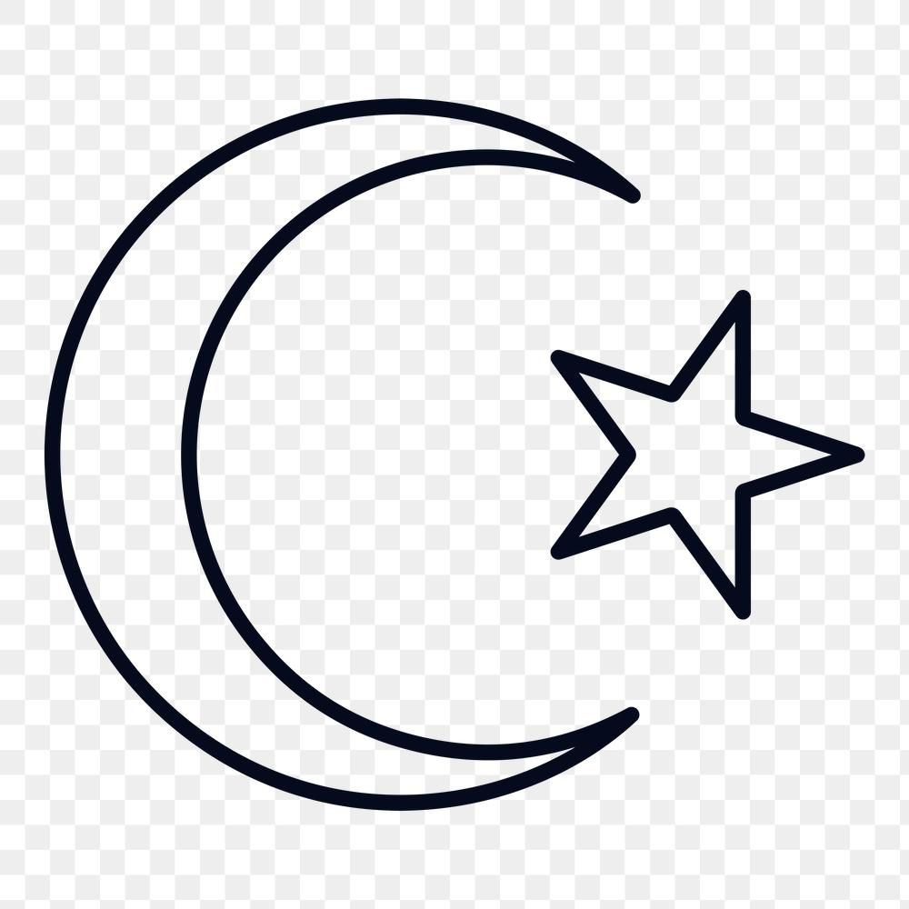 Islamic Crescent Moon And Star Symbol Design Element Free Image By Rawpixel Com Ningzk V Symbol Design Star Outline Design Element