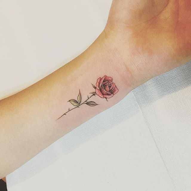 Tattoo Of Rose Small: Red #rose By @tattooist_up · Seoul
