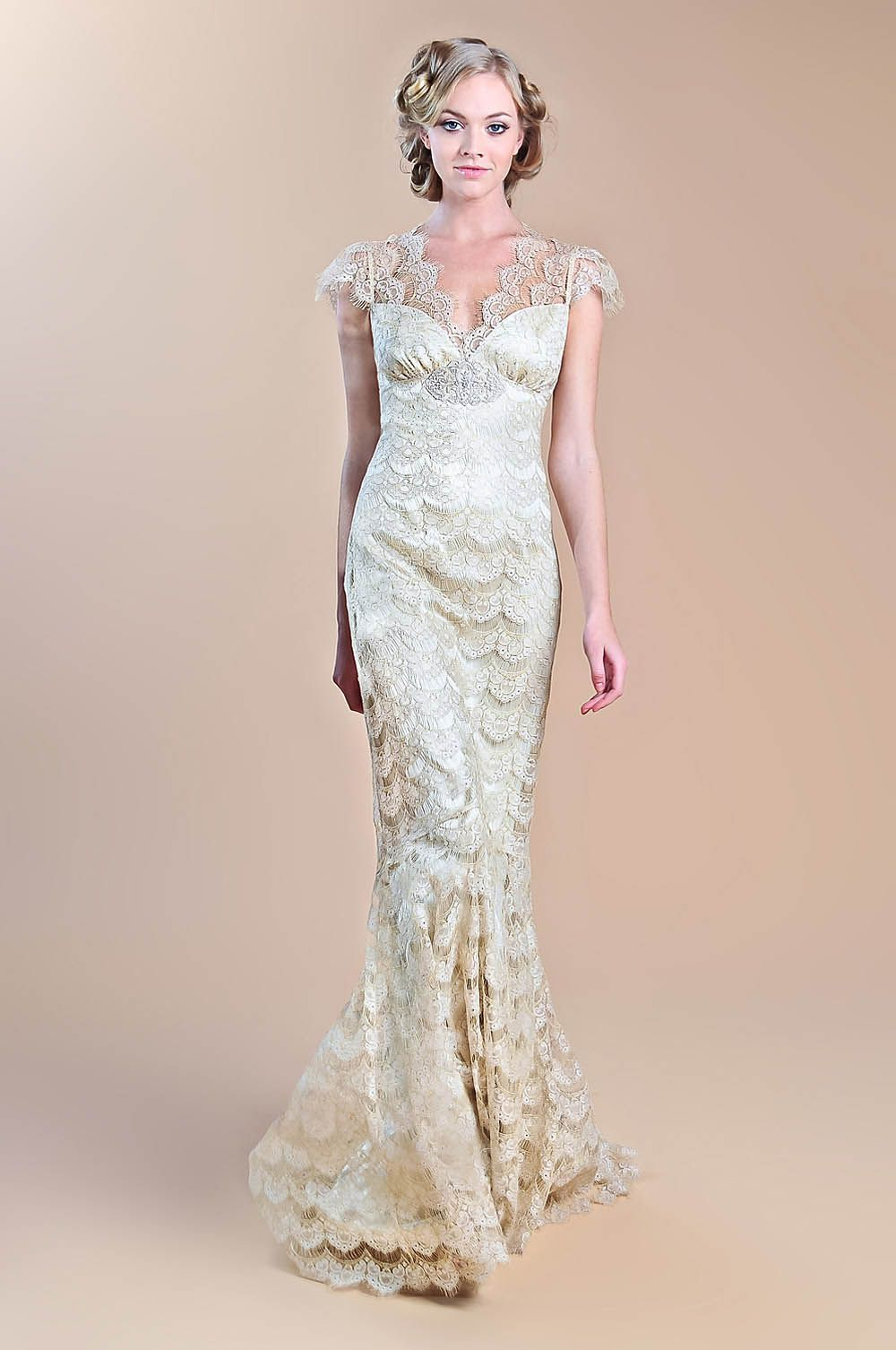 Claire Pettibone lace, shoulder sleeves, silk, wedding dress, 1920\'s ...