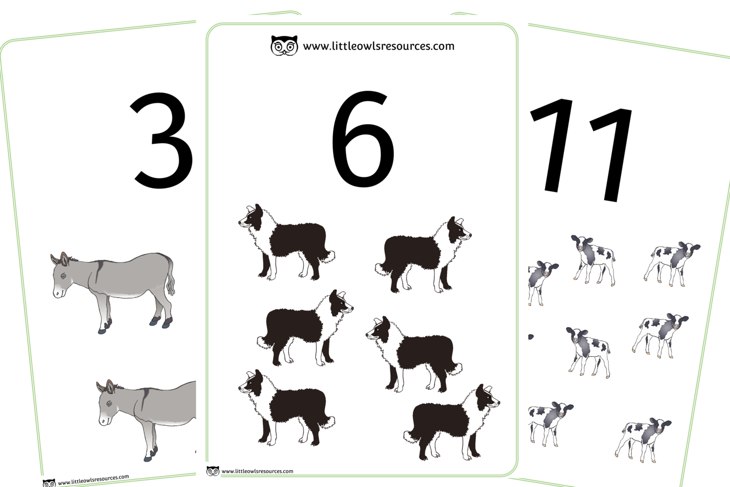 Free 0 20 Farm Animal Counting Printable Early Years Ey