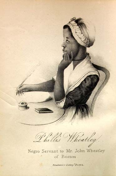 Phillis Wheatley. Been spending a lot of time with her the last year.