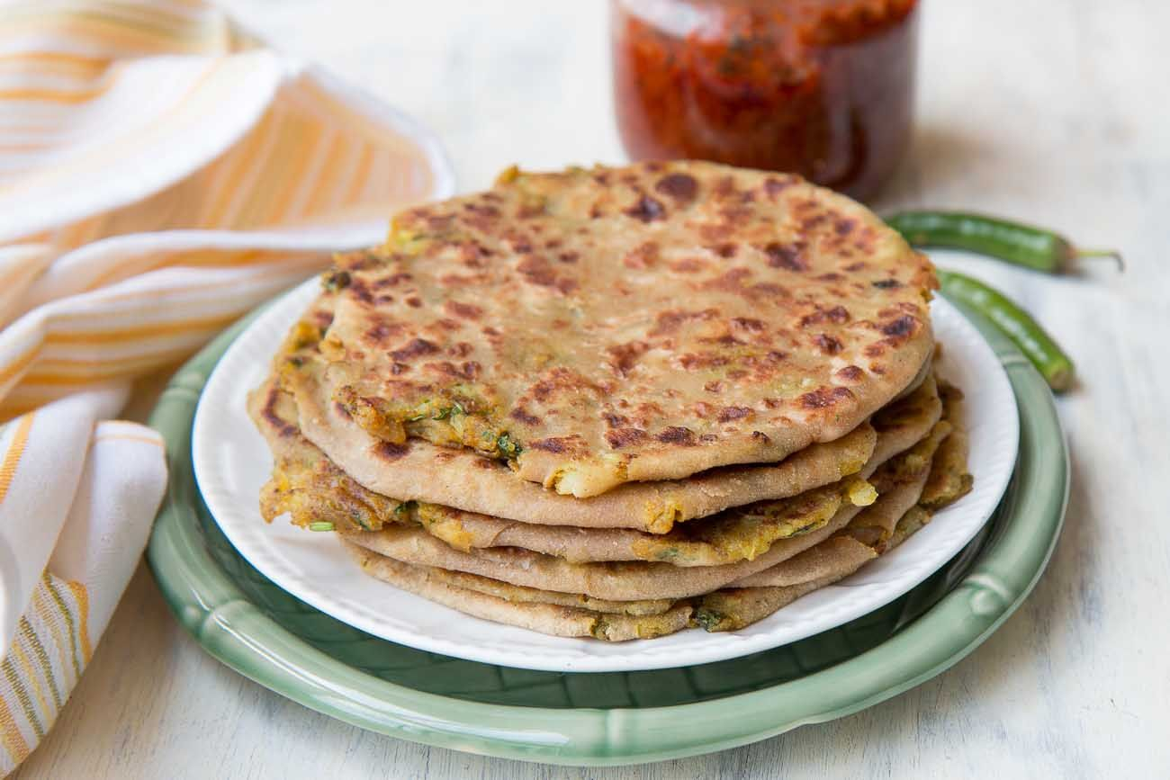 Check out spiced indian potato spiced indian potato flatbread recipe in hindi paratha recipesindian breakfastflat breadindian dishesflatssimple forumfinder Images