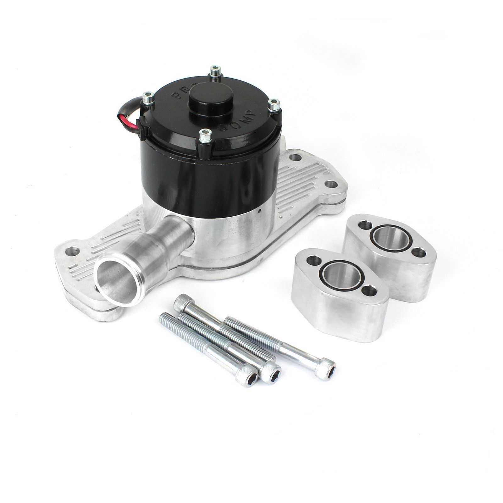 small resolution of chevy sbc 350 35 gpm slimline electric water pump polished