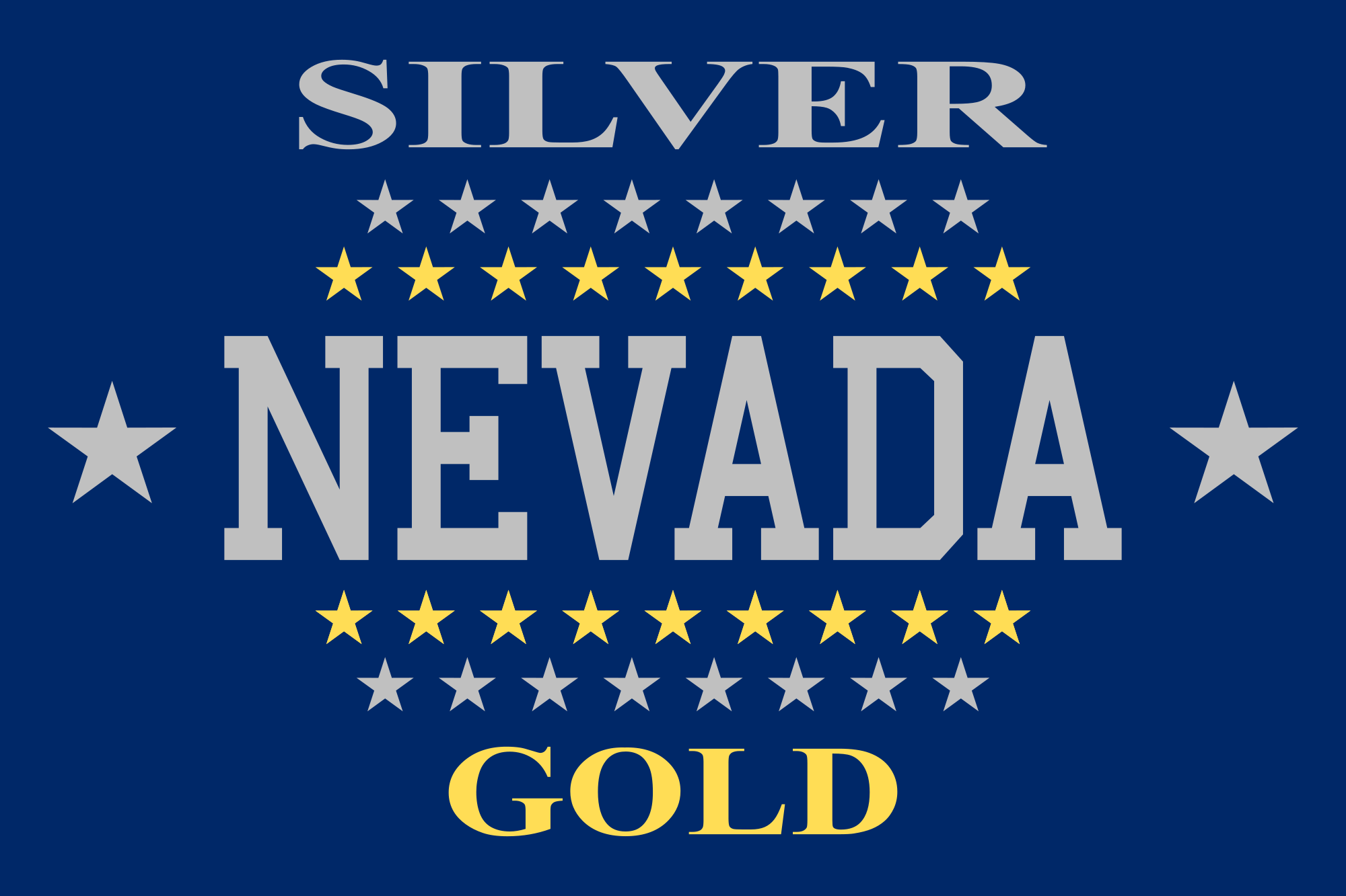 Nevada Flag, 1905 to 1915 State flags, Nevada flag, Flag