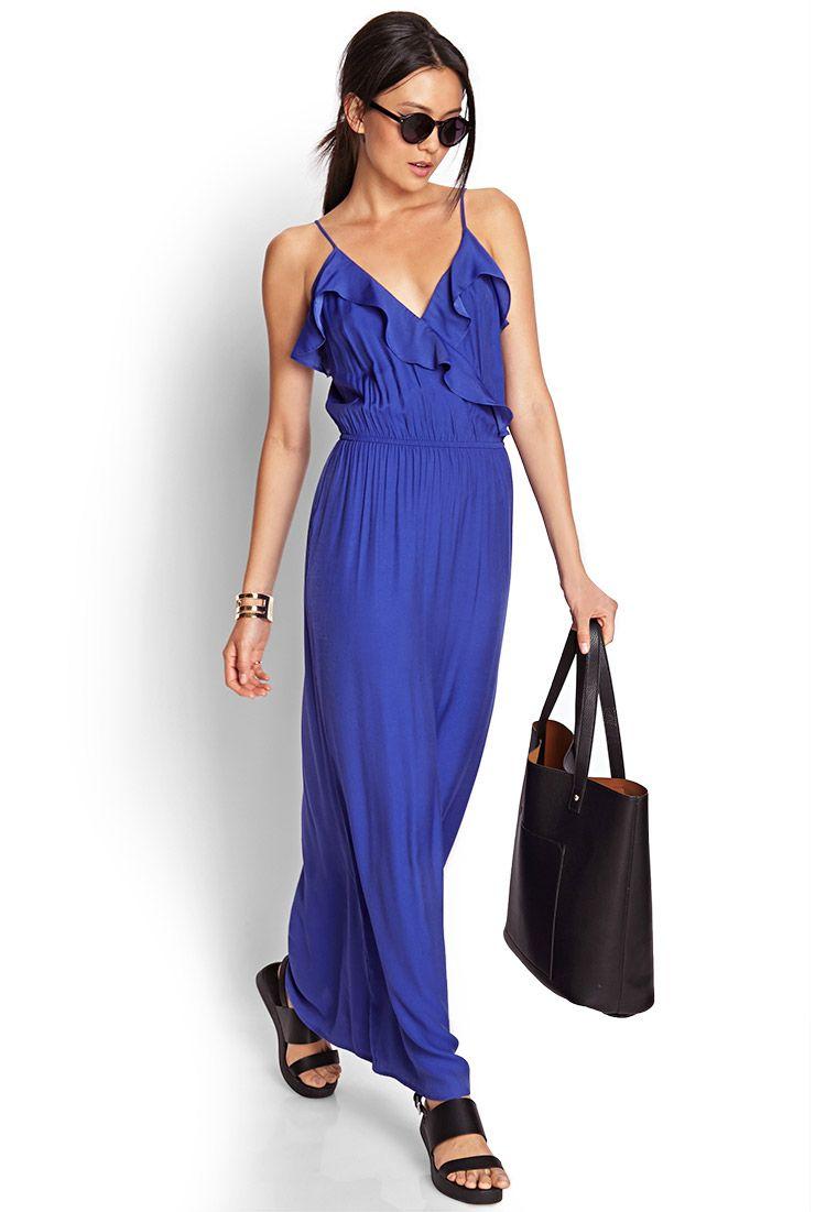 Ruffled maxi dress forever fashion pinterest