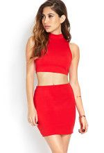 """Forever 21 - Cutting Edge Dress --> This sleeveless bodycon dress will take your grand entrance to the next level. A chic and modest mock turtleneck balances an edgy cutout waist.   Exposed back zipper  76% Polyester, 21% rayon, 3% spandex blend  32"""" full length, 32"""" chest, 26"""" waist  Measured from Small  Hand wash cold  Imported   Model Info:Height: 5'8"""" 