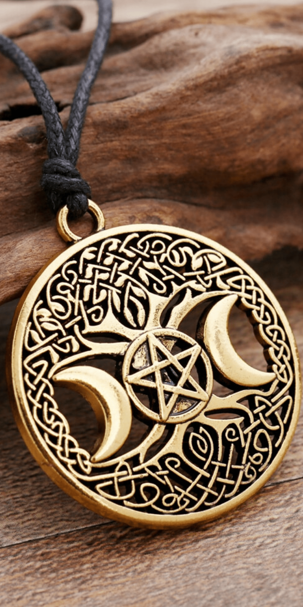 Celtic Mother Goddess pendant celtic knot tree of life pagan handmade