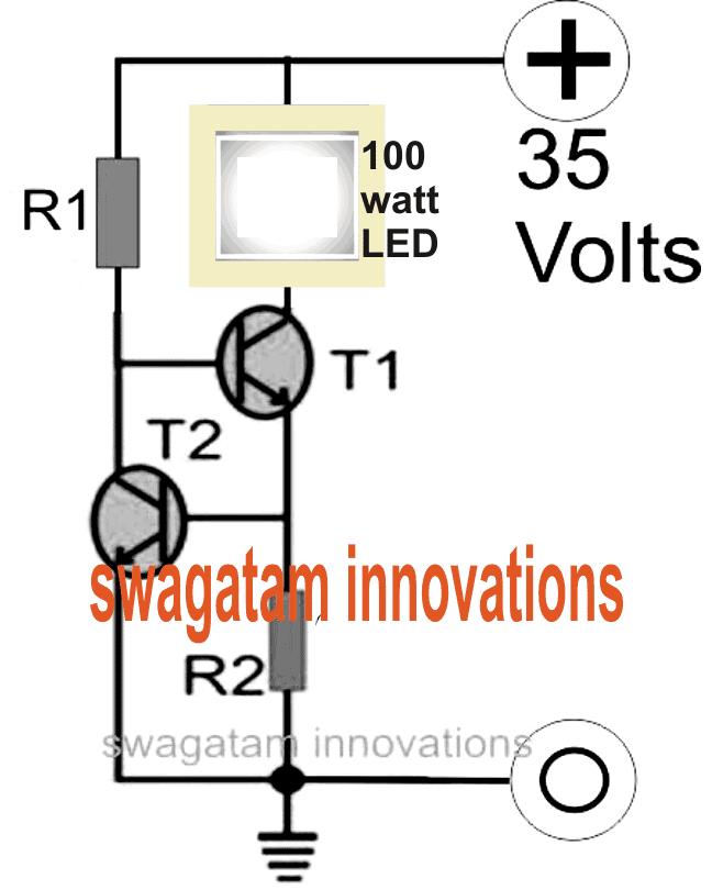 Make a 100 Watt LED Floodlight Constant Current Driver ...