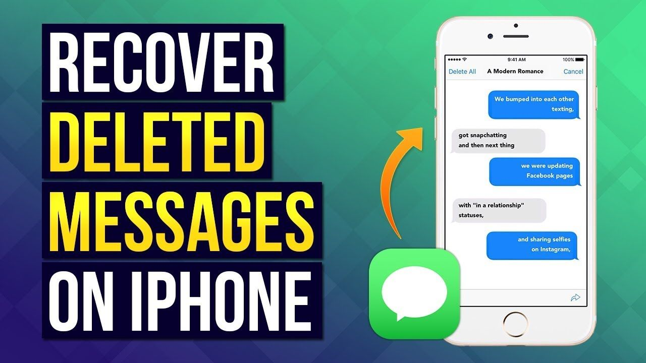 Can You Get Back Deleted Texts Iphone 3 Ways To Recover Deleted Messages On Iphone 2019 How To Recover Dele Recover Deleted Photos Messages Best Gaming Headset