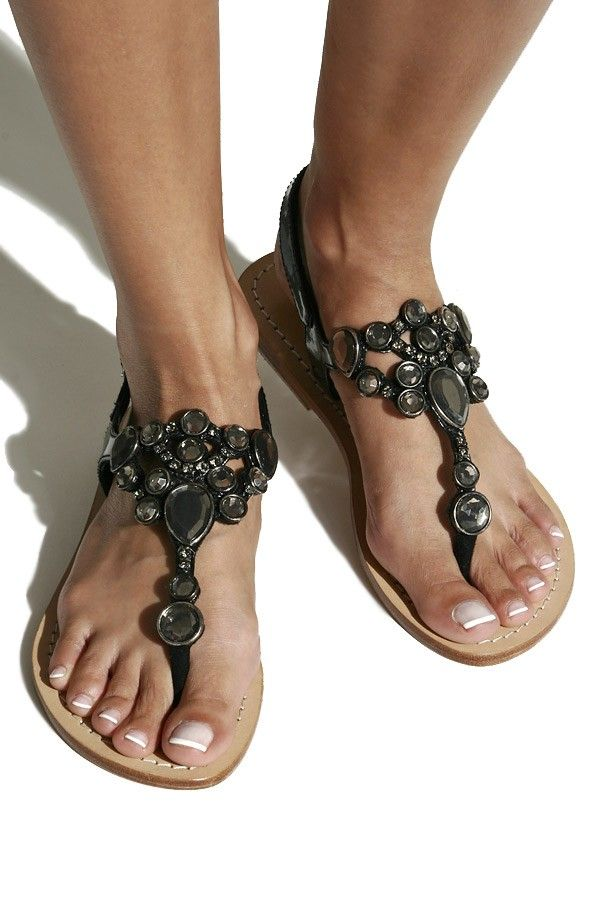 5042fd00918af4 Mystique Black patent leather sandals with gems www.shopmystique.com ...