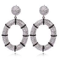 Nuevos pendientes de gota para para Cubic zircon pendiente con el oro plateó la joyería moda para la boda alta calidad envío gratuito