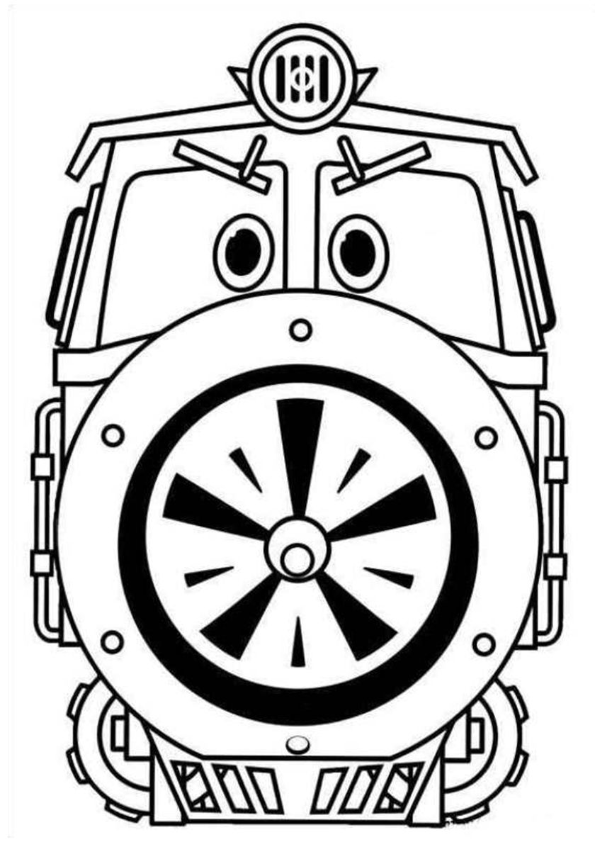 Serious Train Victor High Quality Free Coloring From The Category Robot Trains More Printable Pi Cartoon Coloring Pages Coloring Pages Train Coloring Pages