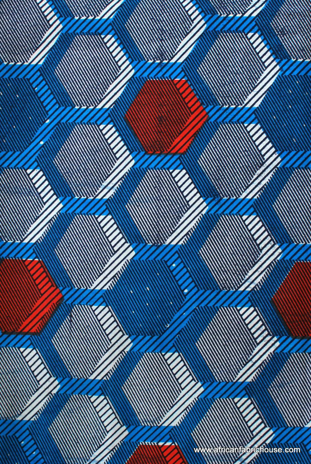 Hexagon blue pattern language pinterest patterns for Patterned material for sale