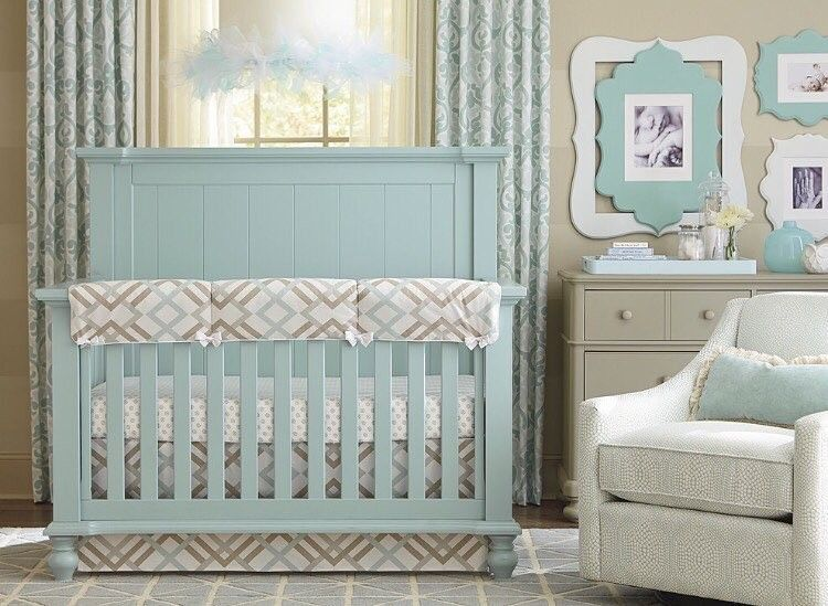 Such A Calming Crib ColorCredit To Bassett Furniture...   Home Decor For  Kids