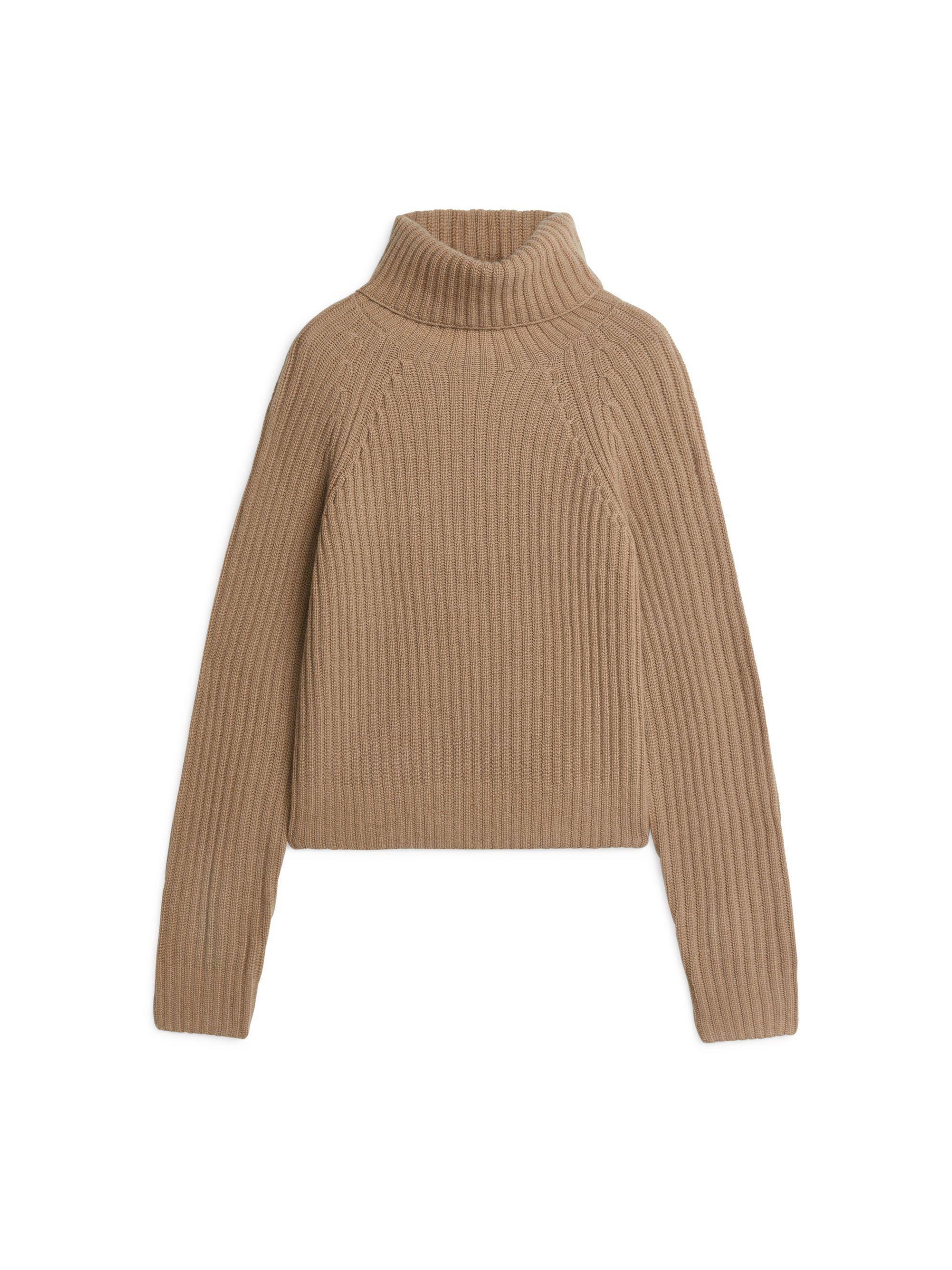 Cashmere Roll Neck Jumper  Beige  Knitwear  Arket