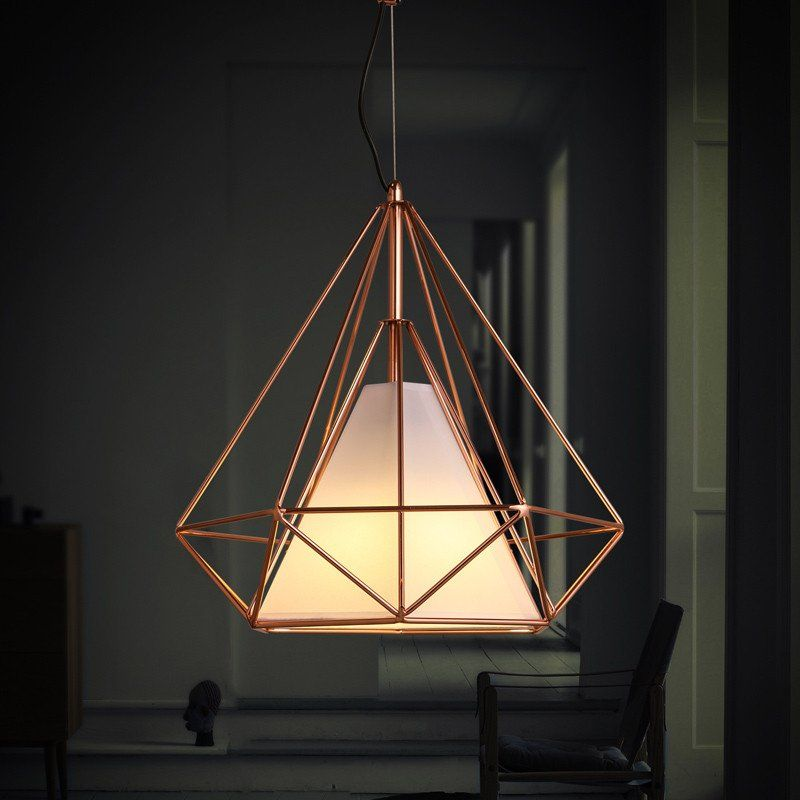 Copper Diamond Wire Cage Pendant Light | Pinterest | Cocinas