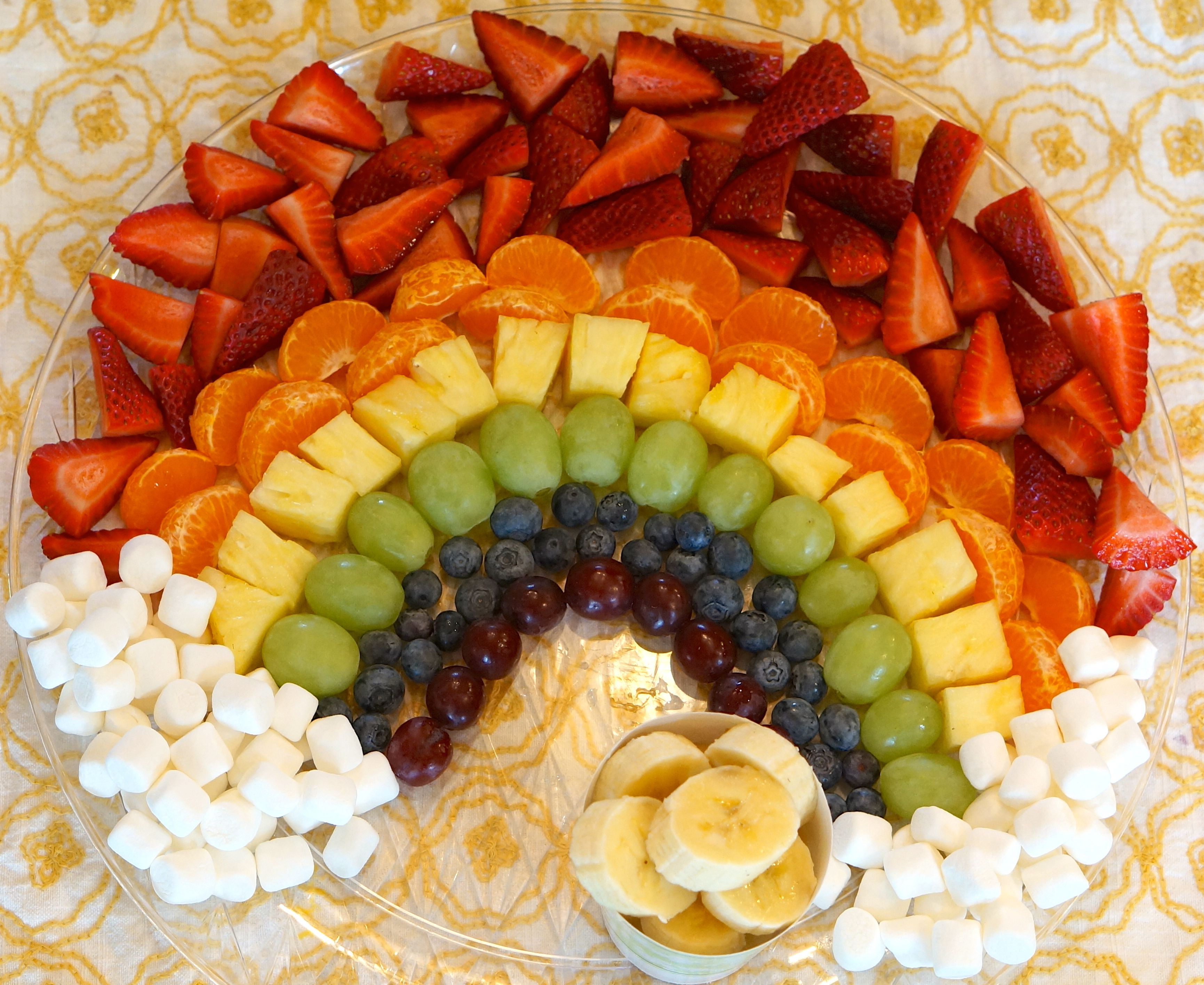 how to serve mango on a fruit platter