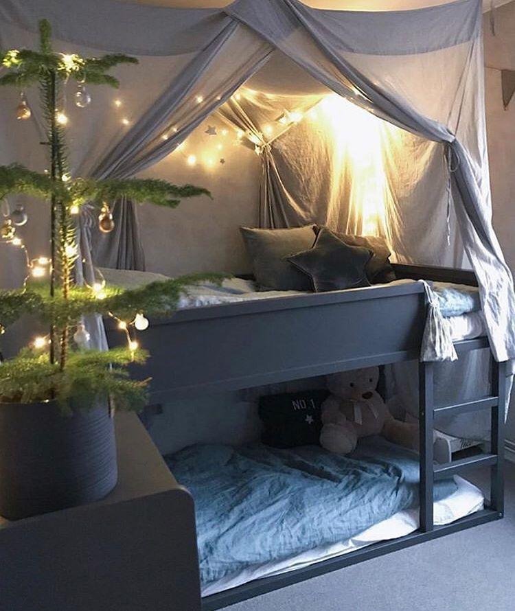Het IKEA Kura bed! | Barnrum våningssäng, Bebisrum, Barnrum tält