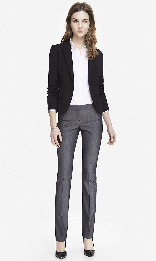 3f0102cc4bffa Herringbone Tweed Slim Leg Columnist Suit from EXPRESS | Hair, Makeup +  Fashion | Grey dress pants, Pants, Pants outfit