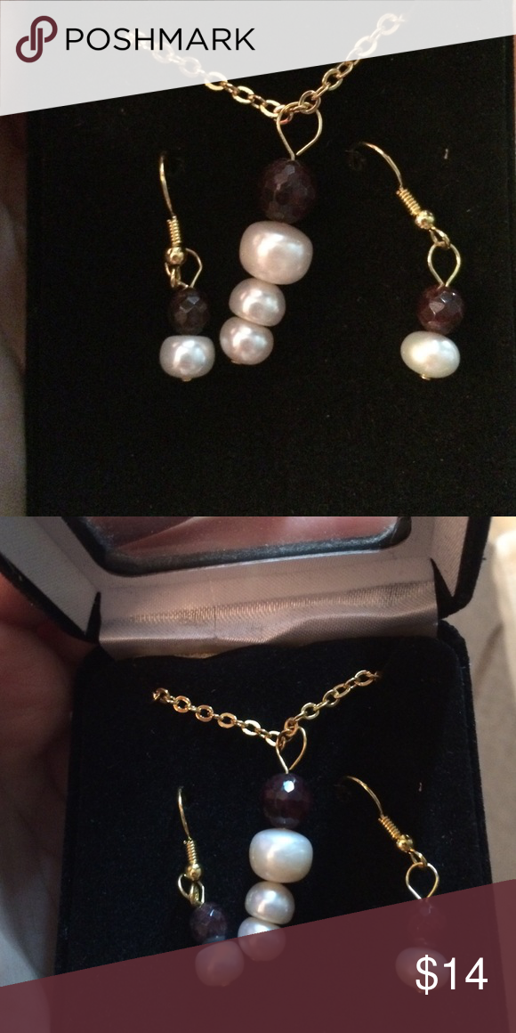 Cute costume jewelry necklace and earrings set  Very cute costume jewelry set. Earrings and necklace. There's no brand on it. Never worn brand new in box. ▶️ Cross posted x No brand on it  Jewelry