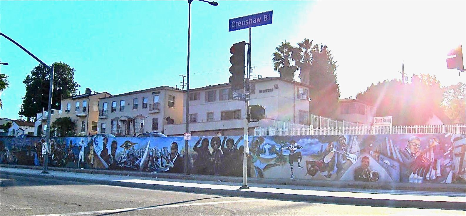 The Crenshaw mural is located on Crenshaw Blvd.The type of