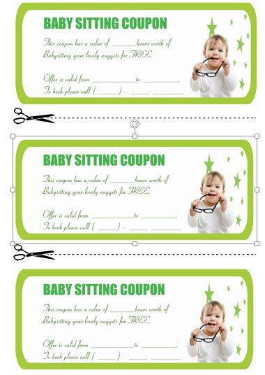 Babysitting Coupon Book Template 7 Babysitting coupon book - coupon template free printable