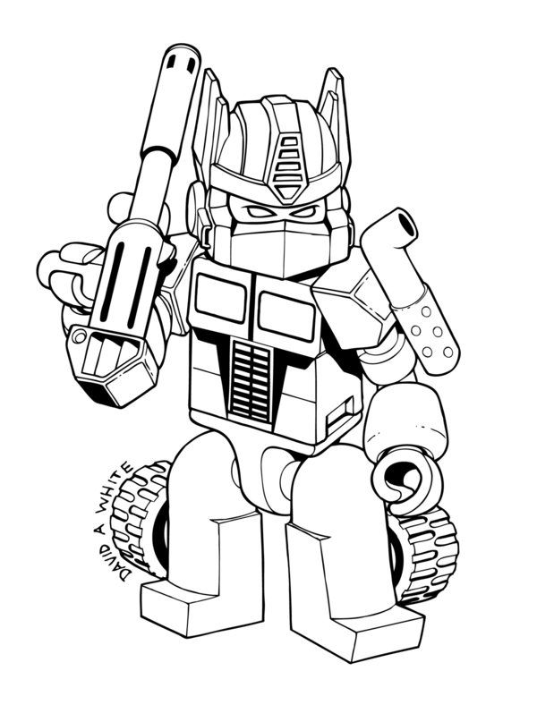 Transformers Optimus Prime Kre-O coloring Page by Mecha-Zone - new coloring pages for rescue bots