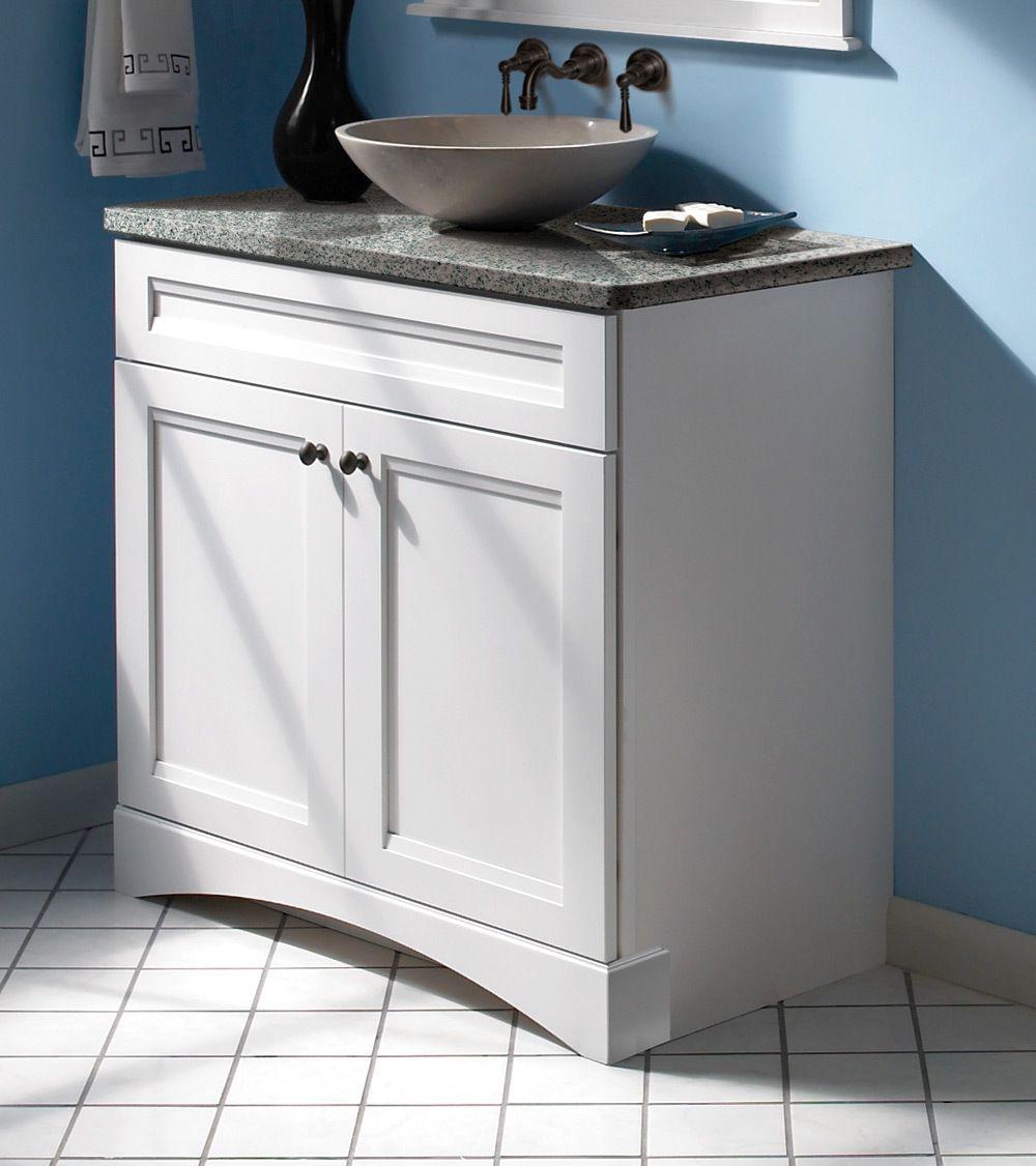 Maple Bathroom in Dove White - KraftMaid | Inspiration: Kraftmaid ...