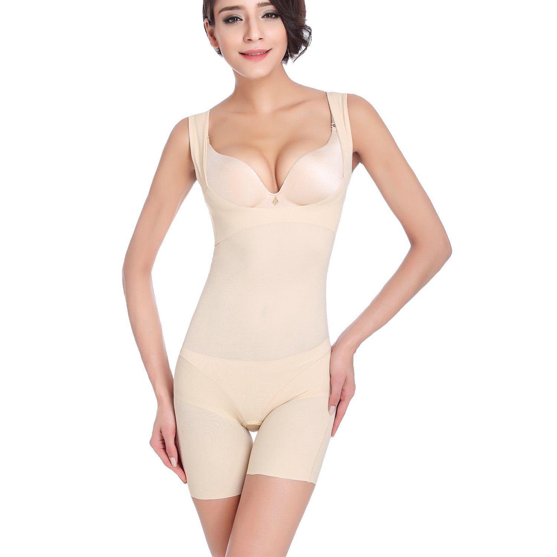 dc4659889c28b FOUMECH Womens Premium Seamless Smooth Firm Control Bodysuit Thigh ...