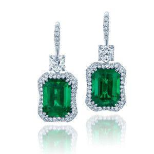 Jb Star Emerald Cut Earrings