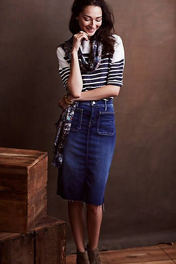 Mother Denim Pencil Skirt Fall 2014 Fabulosity In 2019