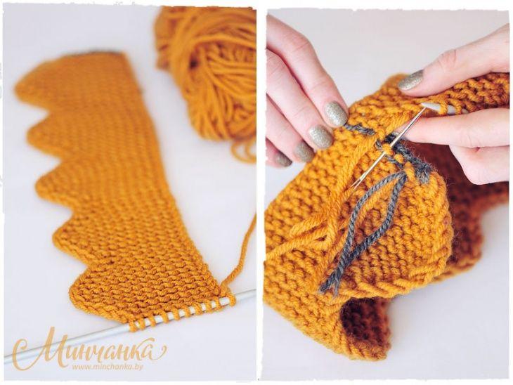 повязка корона вязаная Diy волшебные узелки вязание детское