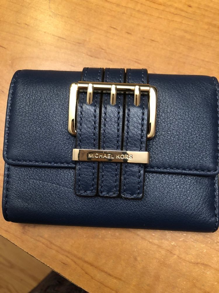 b61d55bb727b4 Michael Kors Navy Leather Women s Wallet  fashion  clothing  shoes   accessories  womensaccessories  wallets (ebay link)