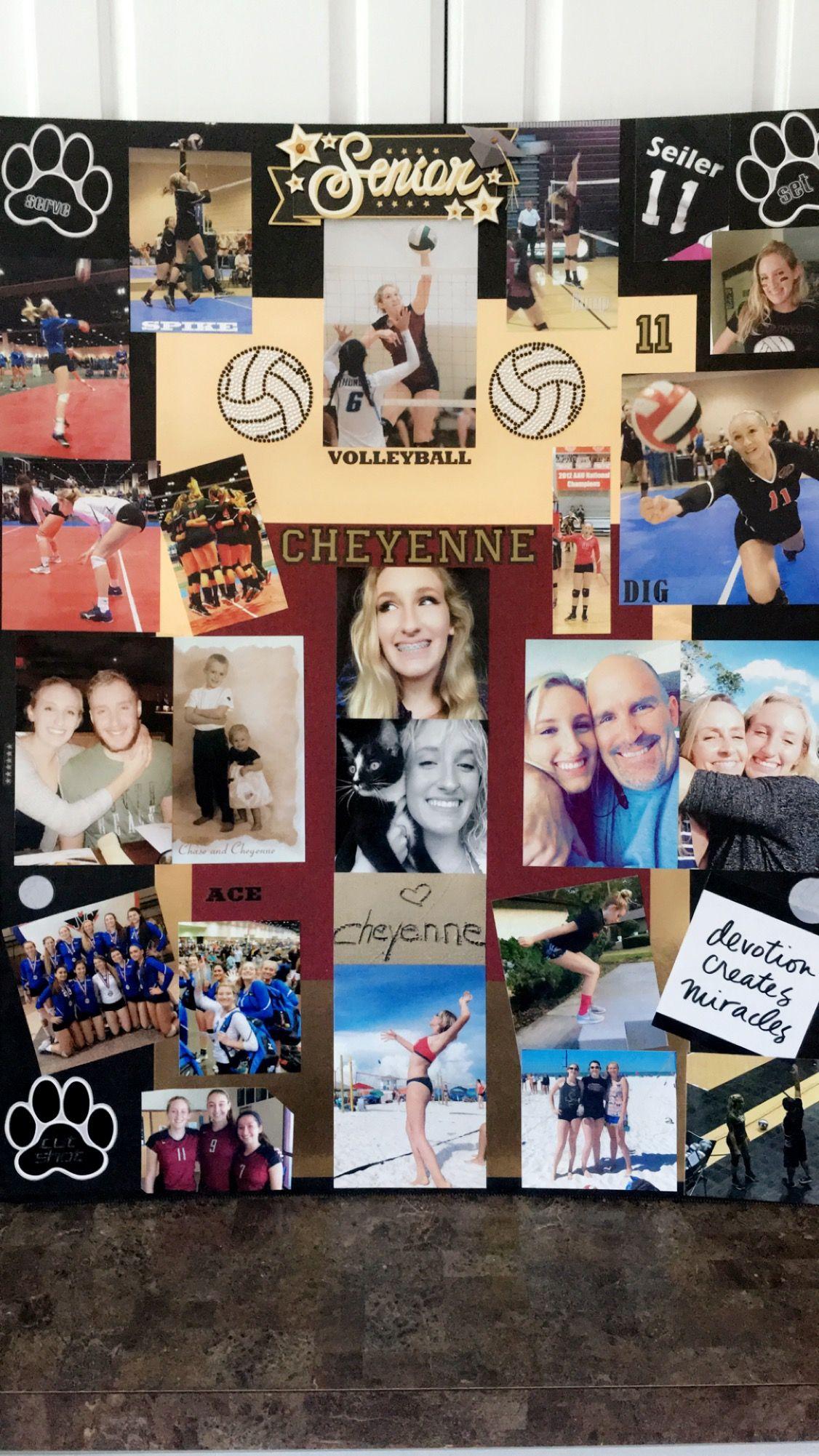 Senior Graduation Memory Board Volleyball Memory Board Photo Display Volleyball S Graduation Memory Board Graduation Memories Graduation Picture Display