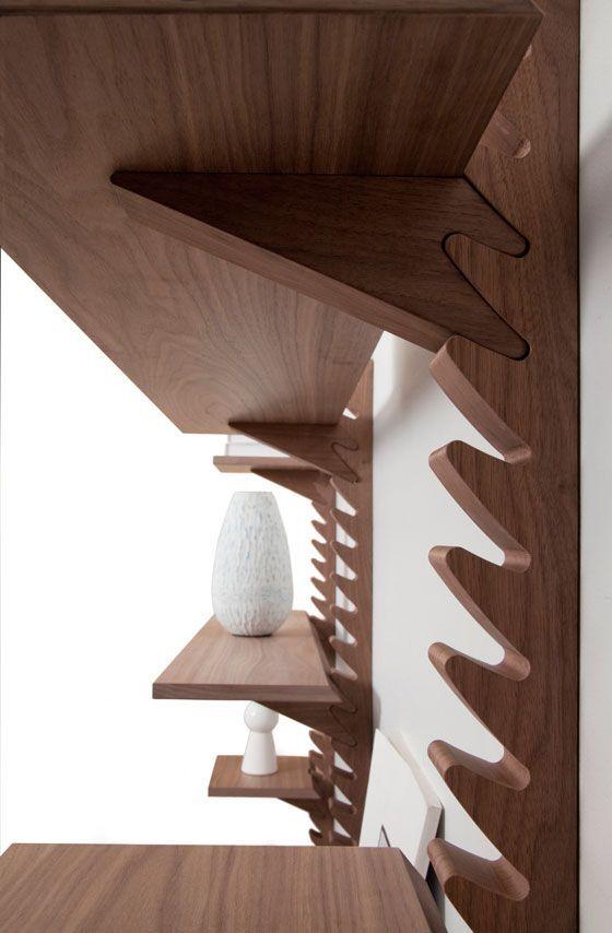 25 Smart Adjustable Shelving Ideas Smart Adjustable Shelving Inspiration Is A Part Of Our Design Inspiration Serie Cnc Furniture Wood Joints Furniture Design