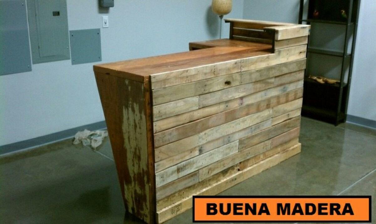 Resultado de imagen para mostrador de madera recepcion - Mostradores de bar ...