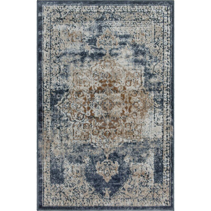 Abbeville Persian Inspired Dark Blue Area Rug & Reviews