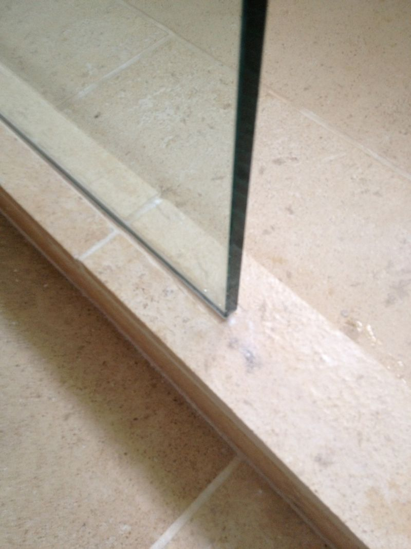 Cutting Channel Into Shower Stone Curb For Glass Wall . So You Donu0027t Have
