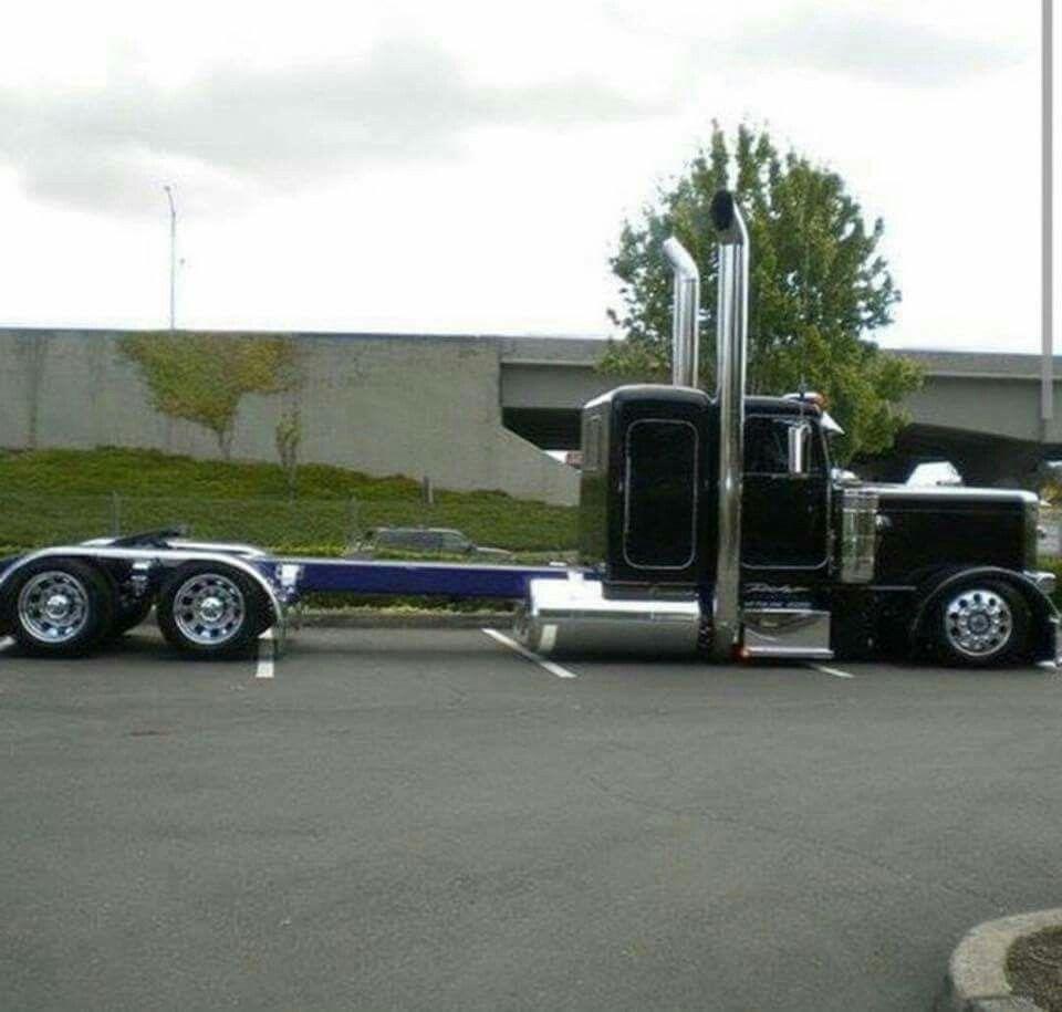 A Little Frame Stretch Big Rig Trucks Peterbilt Trucks Big Trucks