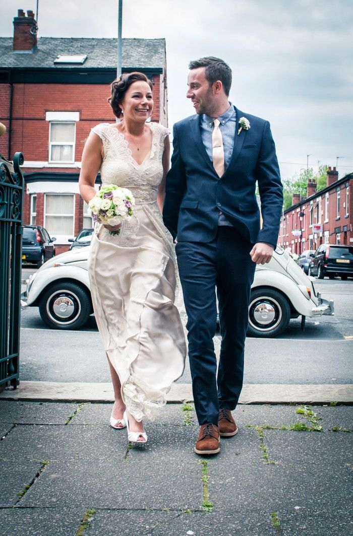 A Stunning Unique Wedding Dress Made From Vintage Lace Victoria Baths Manchester Photography
