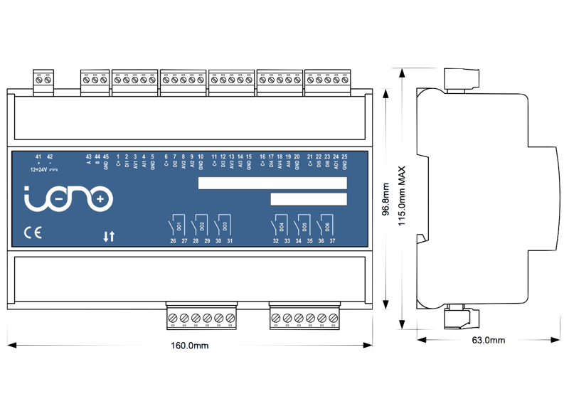 Iono Arduino Industrial Arduino Plc Digiatal Analog I O Relays Rs485 Ce Arduino Diy Home Automation Home Automation