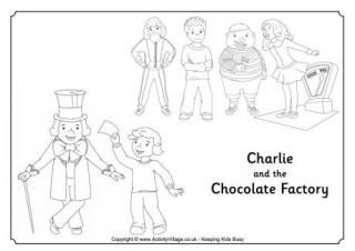 Charlie and the Chocolate Factory Colouring Page