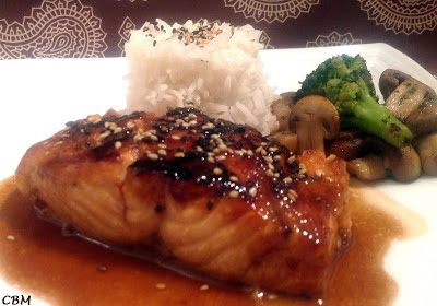 Dans la cuisine de Blanc-manger: Saumon glacé  style japonais
