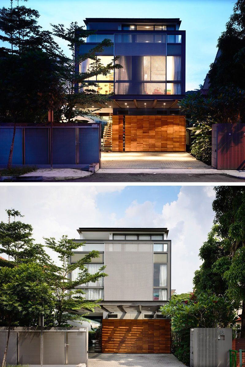 Architecture firm hyla have designed a 2 storey home with for Architecture firms in singapore