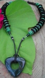 Exotic Beauty Bloodstone Necklace by Audrey Gorman