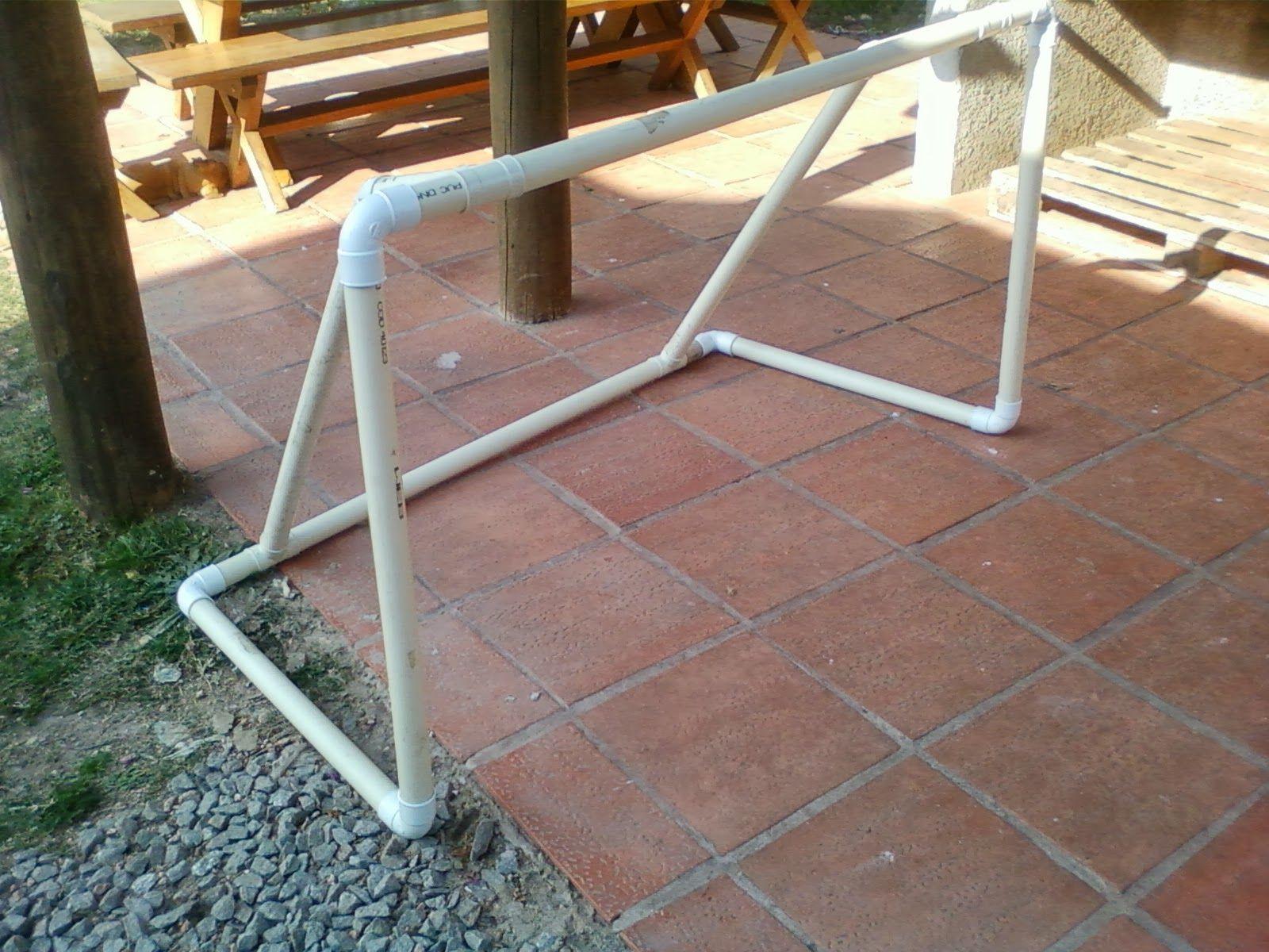 Quería compartir con ustedes el arco de footbal que hice para Juanma ...
