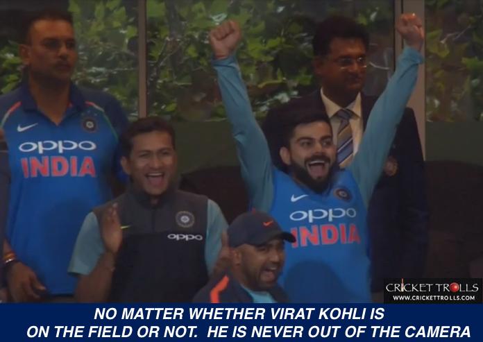 Winning moment from the dressing room ViratKohli INDvSA