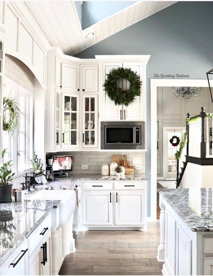 love this kitchen minimalist white neutral tone farmhouse kitchen inspiration home decor on farmhouse kitchen xmas id=50710