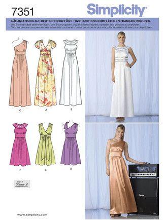 Simplicity 7351 | Nähideen - Klamotten | Nähen, Kleid nähen und Kleider