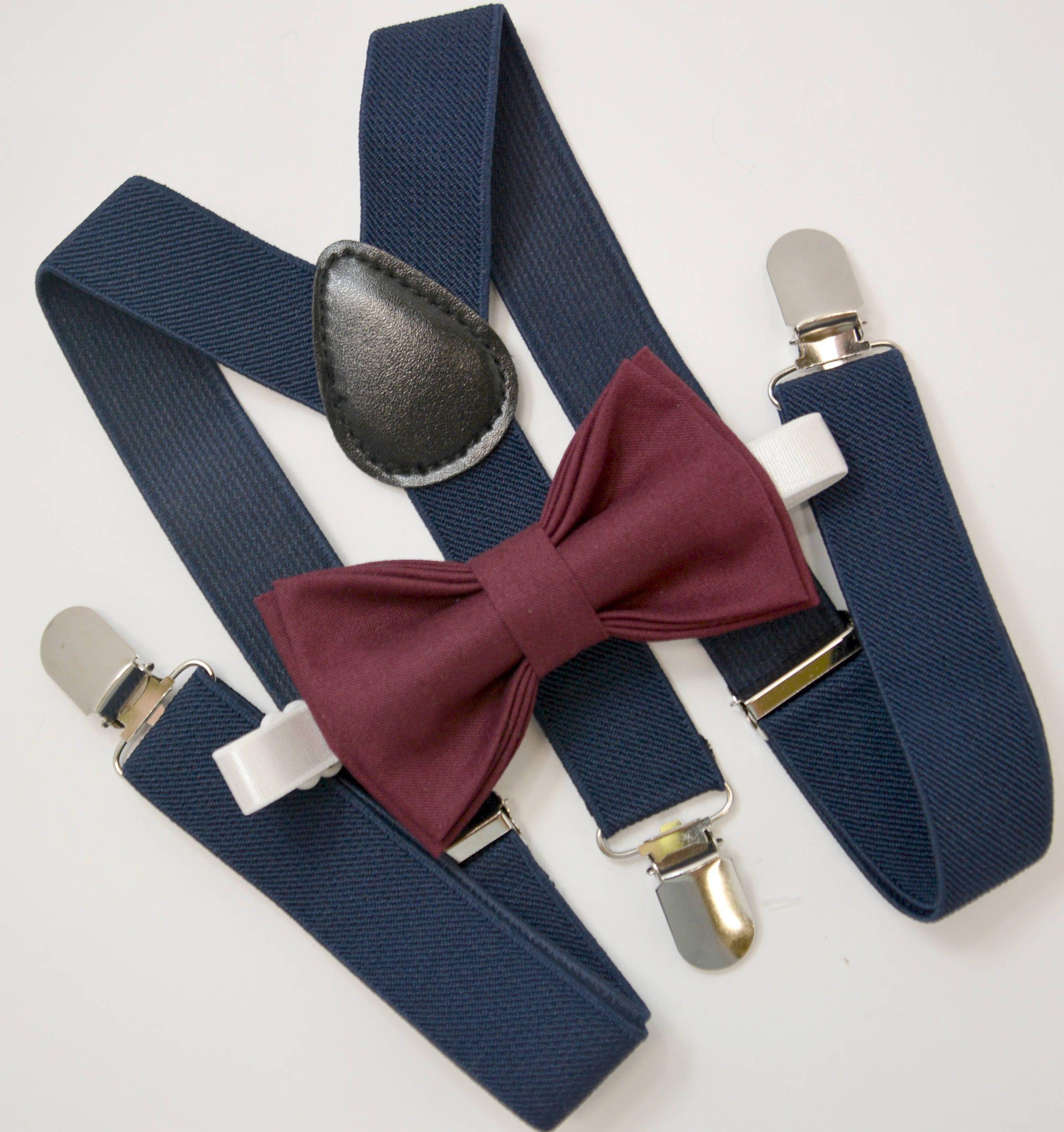 New Skinny Slim Wine Red Clip-On Cotton Bow Tie Boys Bowtie Choose Men/'s